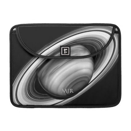 Monogram, Rings of Gas Giant Saturn - solar system MacBook Pro Sleeve