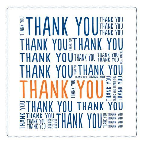 'thank you' square greetings card by merci maman