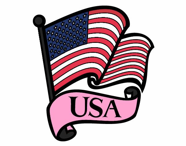 Dibujo De Bandera De Los Estados Unidos Pintado Por Lalinda En