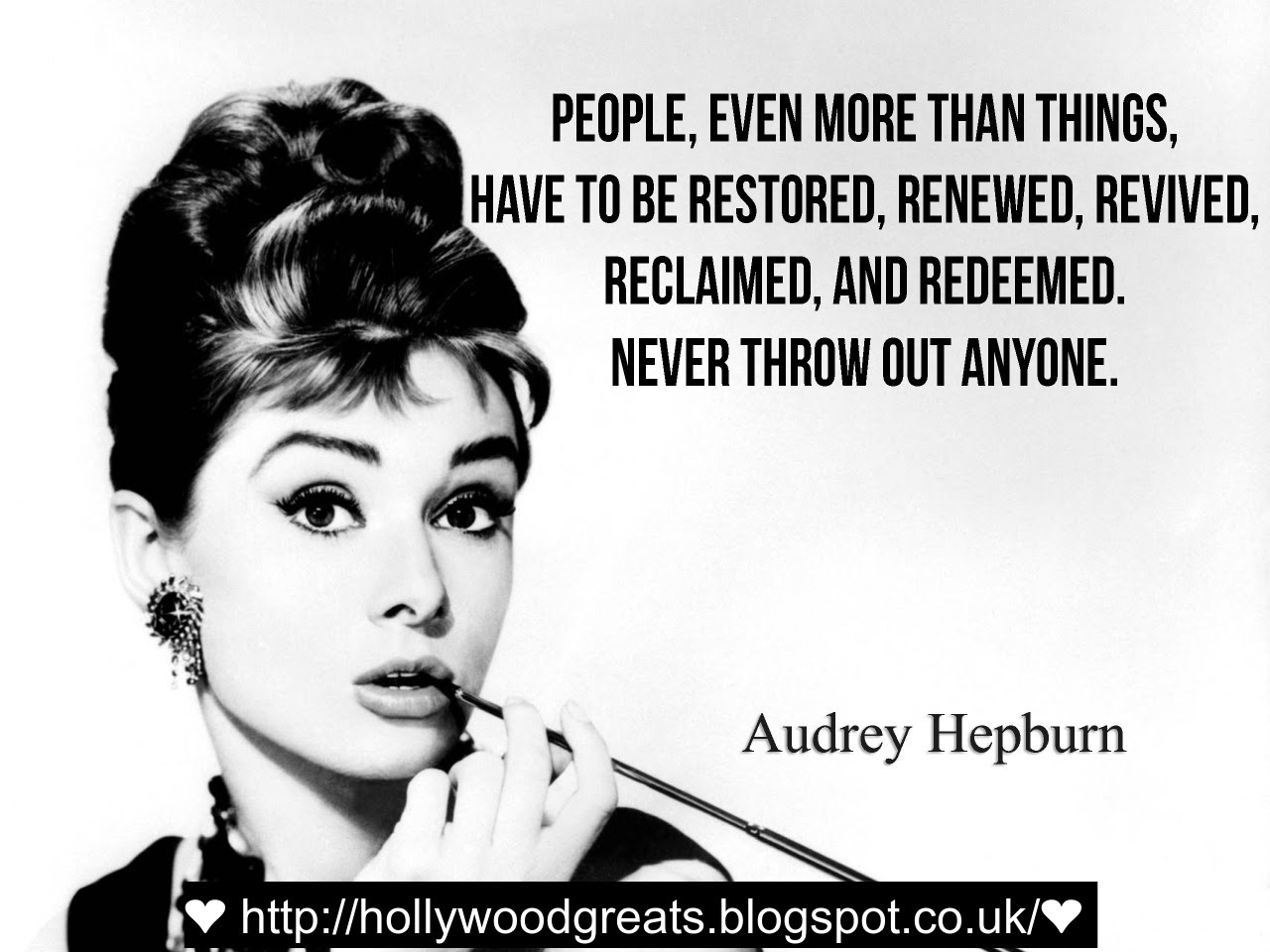 class classy classic noir audreyhpeburn beautiful lady quote lifequote faith friends elegant elegance movie hollywood blakc white fashion style audreyhepburn