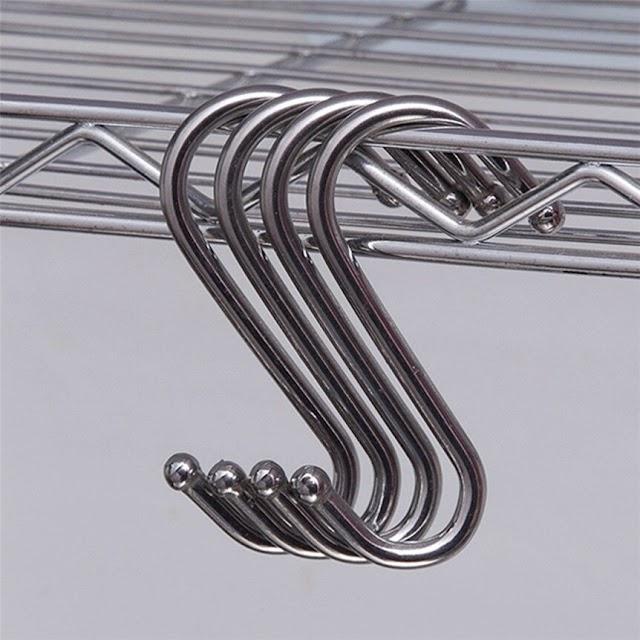 Купить Недорого 15 шт. нержавеющей S форменные крючки висит в полированный металл для кухня спальня офисные Прямая доставка 725 # amp; Онлайн Price H2 Купить
