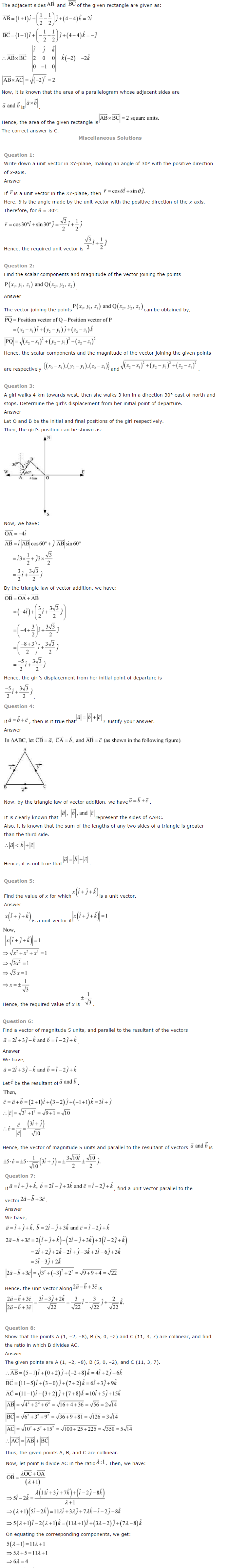 NCERT Solutions for Class 12 Maths Chapter 10 Vector Algebra ex10.6
