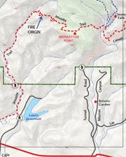 <b>PINPOINTED:</b>  This map shows exactly where the fire began.