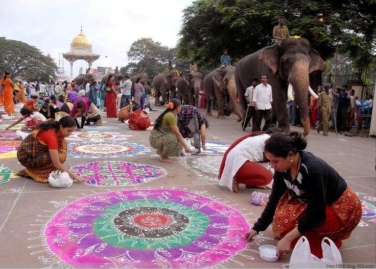 (酷图天地)独特的宗教艺术:印度佛教沙画 - 清风细雨 - 清风细雨