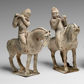 Musicians on Horseback, mid-7th century, China