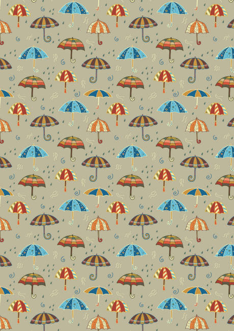 Autumn umbrellas scrapbook paper