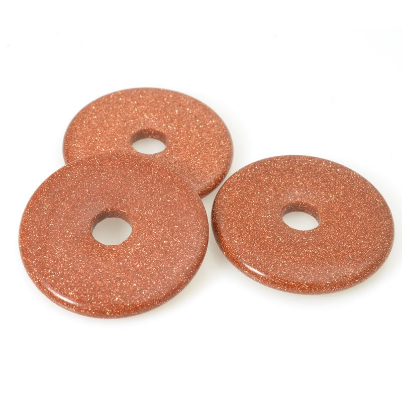 s31385 Stone - 40 mm Donut Pendant - Goldstone (1)