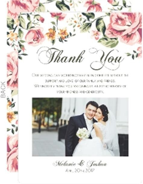 Cheap Custom Wedding Thank You Cards   InviteShop