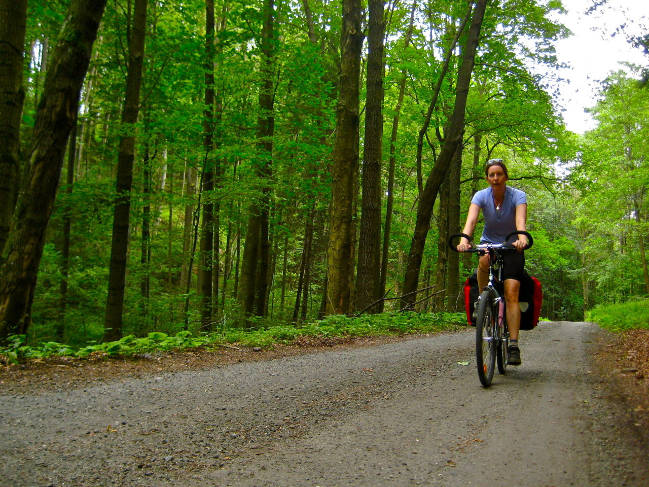 bicycle touring can be easy; bike travel; two wheel travel