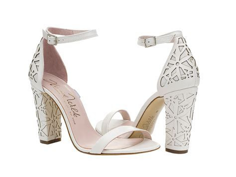 Harriet Wilde Laser Block Heel Wedding Shoes   Cicily Bridal