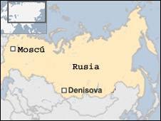 Ubicación de la cueva de Denisova.