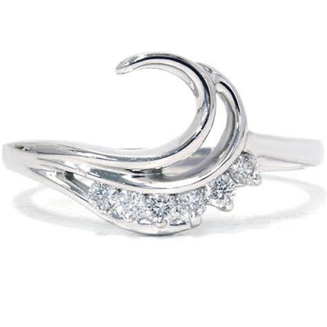 1 4CT Curved Diamond Wedding Engagement Guard Ring Band