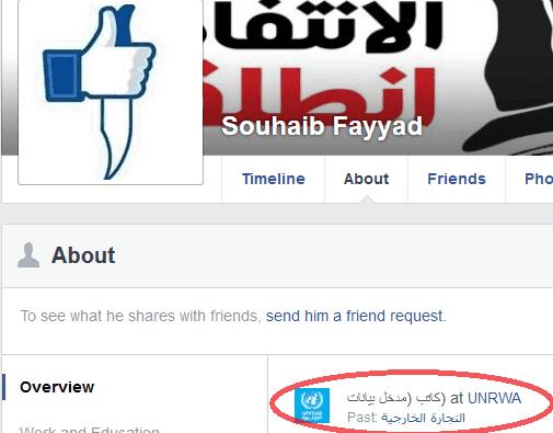 Souhaib Fayyad - Couteau images FB + lien UNRWA