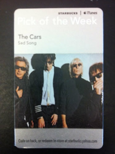 Starbucks iTunes Pick of the Week - The Cars - Sad Song
