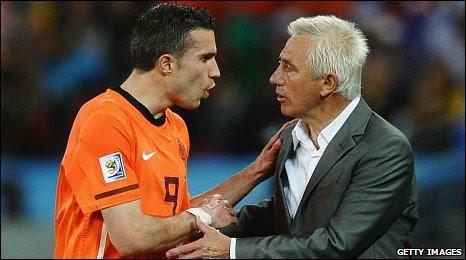 Robin van Persie and Bert van Marwijk