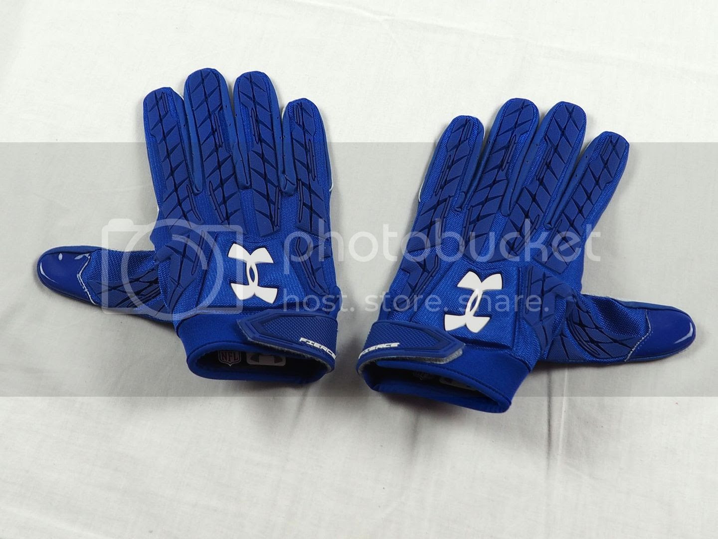 NEW Under Armour Fierce  Blue NFL Receiver Gloves Multiple Sizes  eBay