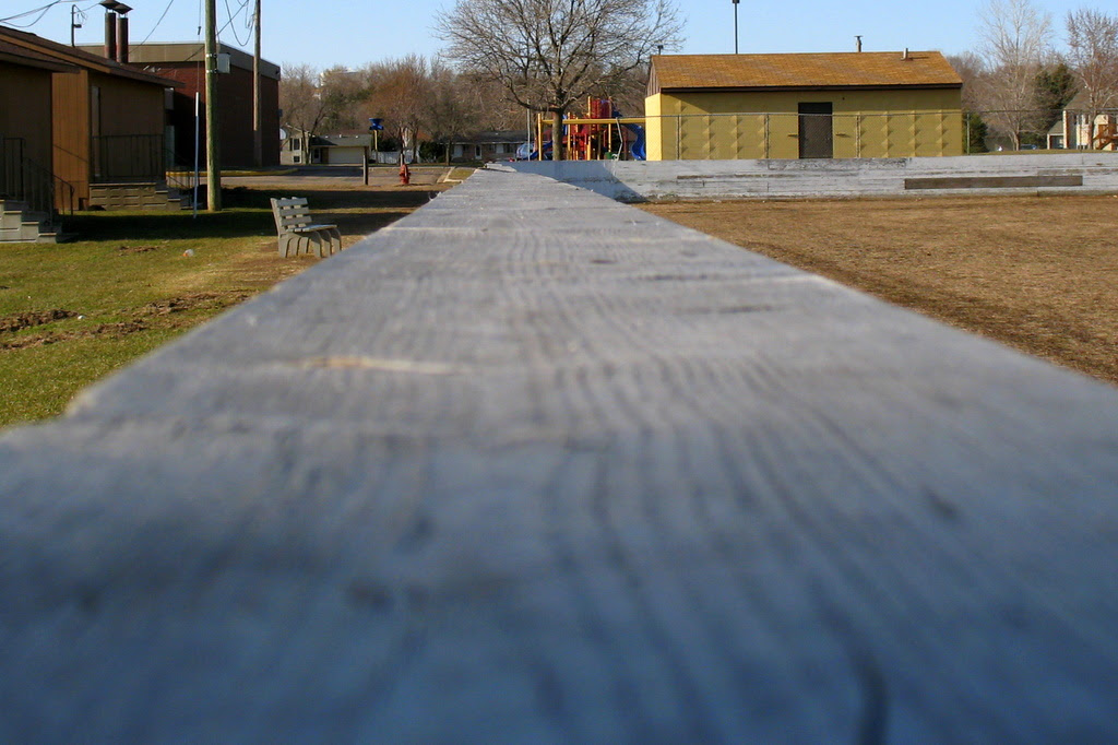 lower perspective from the top of the hockey rink boards