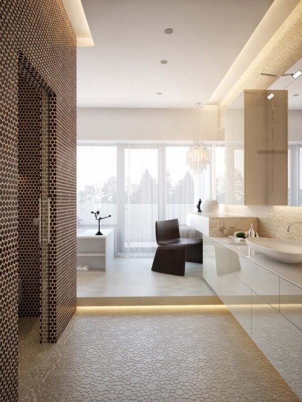 Modern House Interiors With Dynamic Texture and Pattern ...