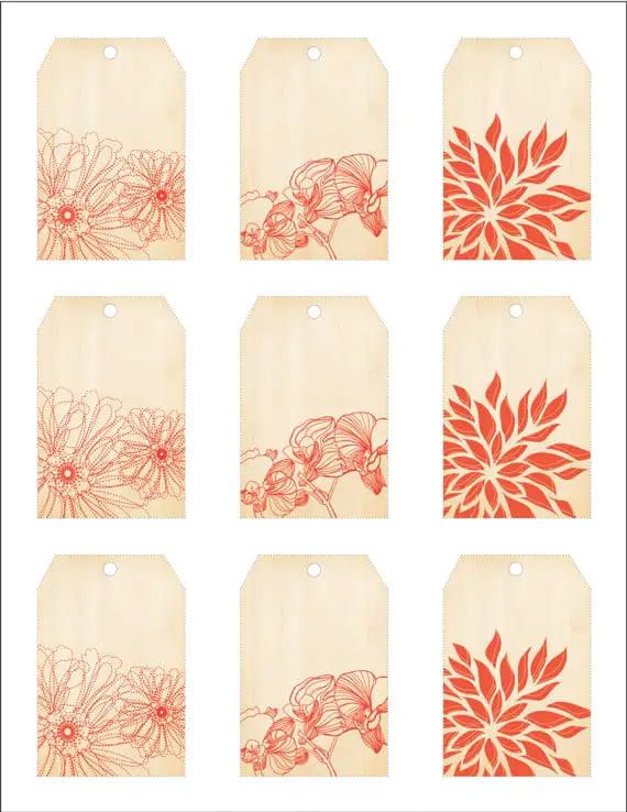 wood grain printable tags • A Subtle Revelry