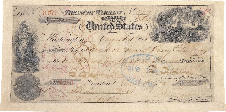 Check used to pay for Alaska