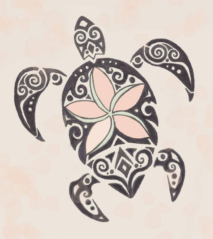 Tribal Turtle Drawing At Getdrawingscom Free For Personal Use
