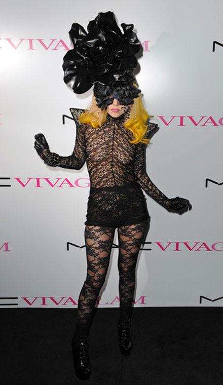 Lady GaGa's lace mask