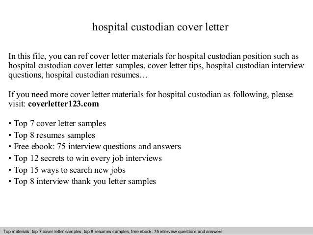 Hospital Custodian Cover Letter