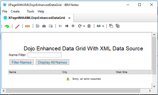 How to use the Dojo Data Grid with XML in the Notes Client