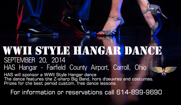 WWII Style Hangar Dance - September 20, 2014 - Historical Aircraft Squdaron