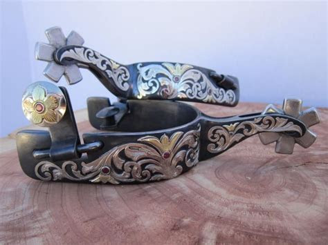 Handmade Custom Spurs by Silver And Steel Studio