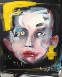 Funny Joke<br />Acrylic on Canvas<br />41cm x 100cm<br />