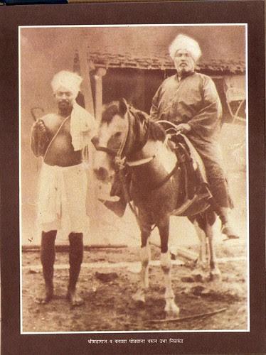 Sri Brahmachaitanya Maharaj on His Steed