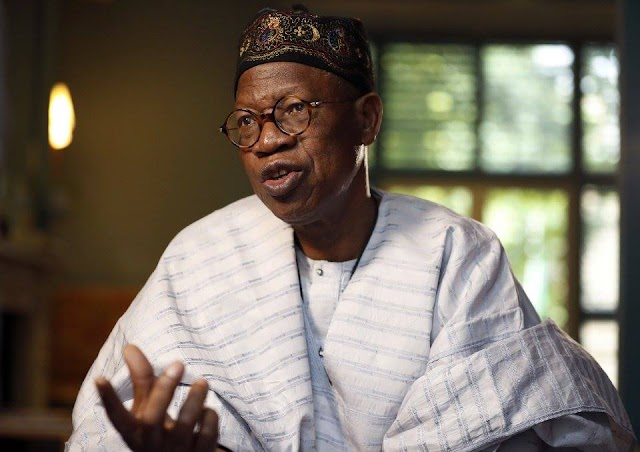 "'' If Mr President feels like telling the world his ailment, so be it. I don't think he's under an obligation to tell anyone."" says Lai Mohammed"