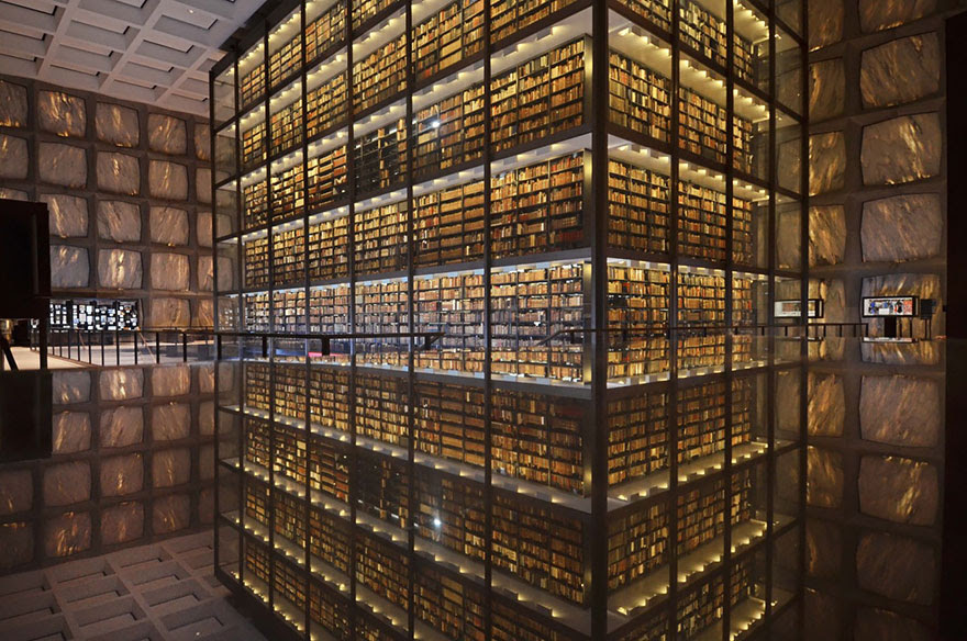 Beinecke Rare Book & Manuscript Library, Yale University, Connecticut, Usa