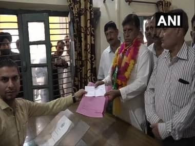 Candidates file nominations for BDC elections in Kathua. ANI