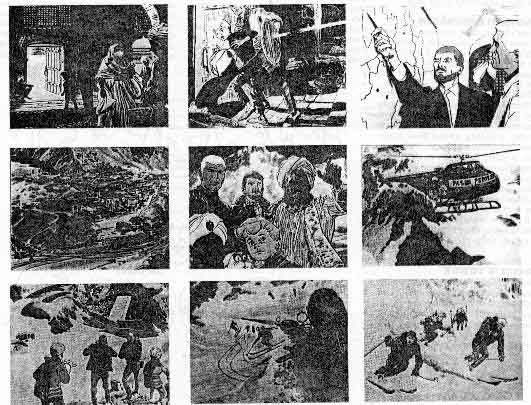 storyboard from Classic Johnny Quest dot com