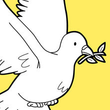 Dibujos Para Colorear El Vuelo De La Paloma De Paz Eshellokidscom