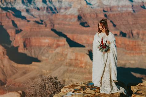 Legendary Sunrise Elopement in the Grand Canyon   Green