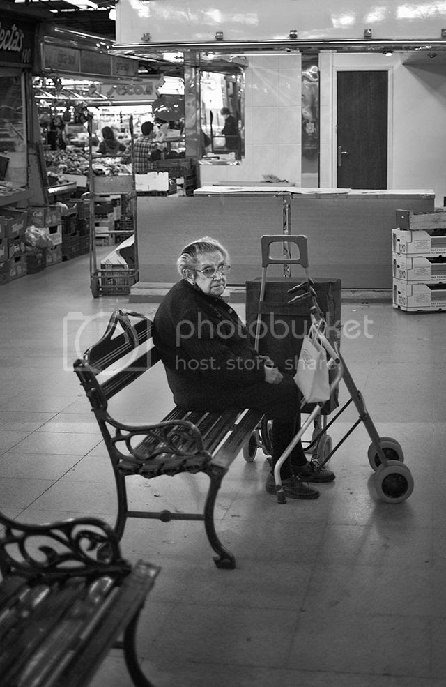 Old Lady at Mercat de l'Abaceria Central de Gràcia [enlarge]