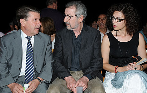 El actor José Sacristán, antes de tomar la palabra en el homenaje a Lorca. | Jesús G. Hinchado