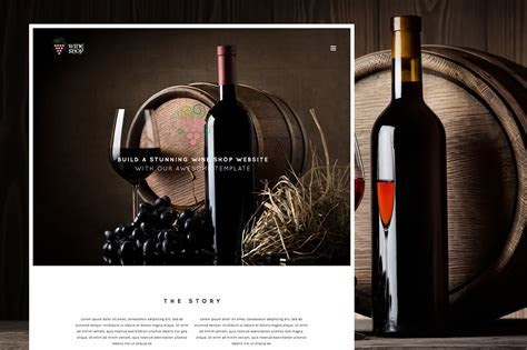 Wine Shop Responsive Wine Template ~ HTML/CSS Themes