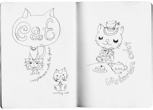 inspired doodles : cat02