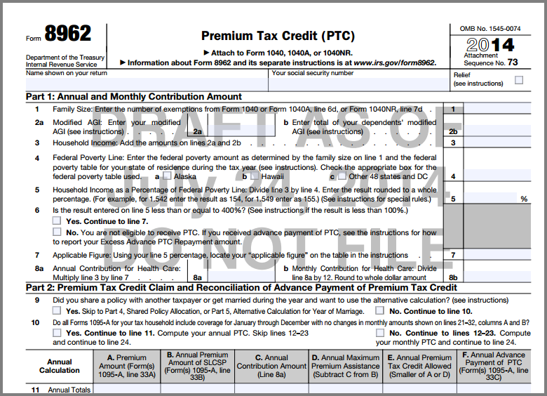 New How To Fill Out Form 8962 Irs