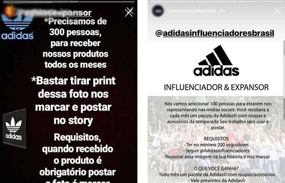 63303e583a TECNOLOGIA & ACESSIBILIDADE: Influenciador da Adidas: falsa promoção ...