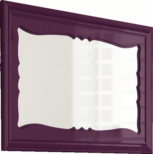 damasco 59 decorative mirror aubergine eclectic bathroom - Decorative Mirror