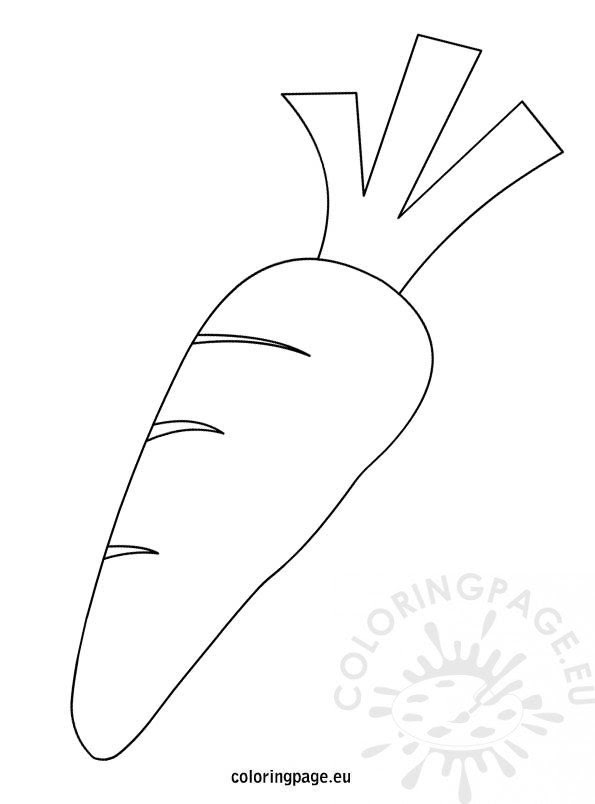 Black and White Carrot - Coloring Page