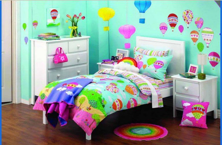 Kamar Tidur Anak Perempuan balon - Desain Rumah Minimalis