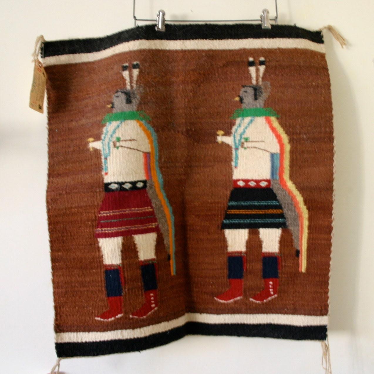 handwoven Navajo rug lovely piece of work