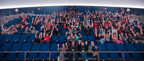 Science Hack Day private planetarium show!