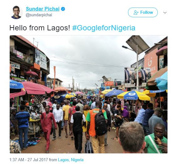 Sundar Pichai Visits Lagos And Computer Village Gets Him Intrigued